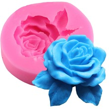 Useful New Rose Flower Leaf Silicone Mold Fondant Cake Decorating Tools Chocolate Gumpaste Moulds Resin Clay Soap Candle Molds(China)