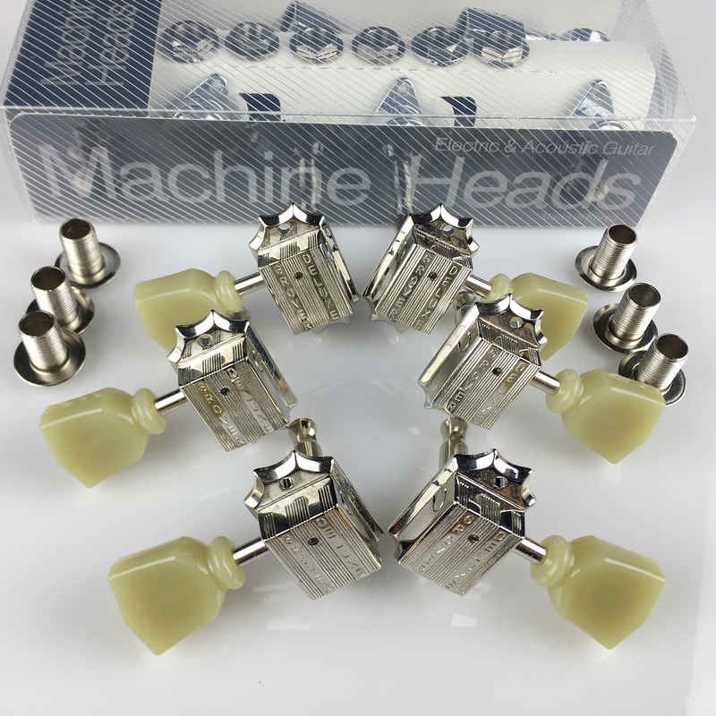 1Set Genuine Grover 3R-3L Vintage Deluxe Guitar Machine Heads Tuners For Gibson USA Nickel <br>