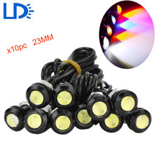10pc 23MM Eagle Eye Light LED DRL Auto Daytime Running Light Motorcycle Tail Reverse Lamp Car Stop Parking Lights Car-styling