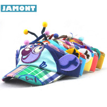 [JAMONT] Cute Summer Empty Top Hat Kids Sun Hat Boys Girls Baseball Cap Cotton Character Bees Kids Cap Casquette(China)