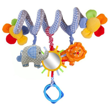Baby Rattles Infant Music Educational Toys Cute Spiral Stroller Car Seat Cot Lathe Hanging Babyplay Travel Toys(China)