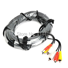 20 Meter RCA Power Video Audio CCTV Cable Wires 3in1AV(China)