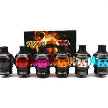 New Style Dragon Ball RDTA Clone CRYSTAL RDTA Electronic cigarettes atomizer 4.0ml with Glass tube