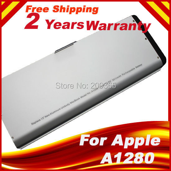 Aluminum Upgraded Version 6-cell Laptop Battery for Apple MacBook 13 A1278 A1280 (2008 Version) MB466LL/A MB466 MB771LLA MB771<br>
