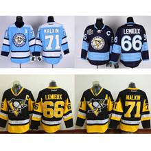 cheap 66# Evgeni Malkin Hockey jersey mens hot 71# Mario Lemieux 100% stitched Premier Player Alternate Jerseys free shipping