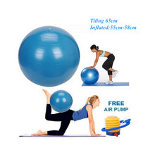 65cm Anti Burst Gym Exercise Yoga Fitness Ball Slimming Thin Body Weight Loss Goals Sport Pilates Ball+Air Pump