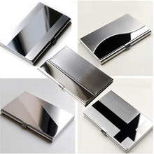 1pc Business ID Credit Card Holder Case Cover Waterproof Stainless Steel Metal Case Box(China)