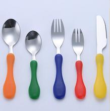 Safety Portable Tableware Kids Children Knife Fork Lovely Stainless Steel Cutlery Set Dinnerware(China)