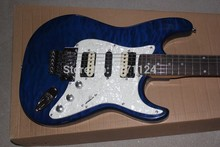 . Top quality stratocaster custom body Floyd rose tremolo electric guitar White pickguard electric guitar