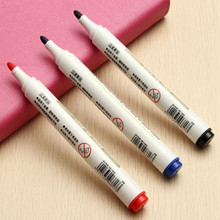 Kicute 10Pcs Whiteboard Marker Red Black Blue Ink Pen Erasable Maker Pen for White Board Stationery Office School Supplies Gift(China)