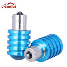 Urbanroad 1156 BA15S P21W S25 White Blue 7W Led Chip Bulb With Lens Car Backup Back Up Reverse Brake Tail Light Lamp Auto 12V(China)