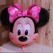 76*70cm cute Minnie Balloon foil balloons Classic Toys Christmas Birthday Wedding Decoration Party inflatable air balloon