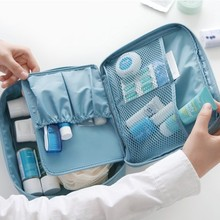 2017 New arrival Nylon High Quality makeup bag organizer trolley Cosmetic Cases bags Storage pouch professional case box brushes(China)