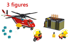 Lepin 305pcs City Fire Building Blocks FIRE RESPONSE UNIT Model Bricks plane Kids Toys Compatible With Lego 60108