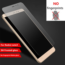 "9H 0.26mm Frosted Matte Tempered Glass Film XiaoMi RedMi Note 3 Pro Note3 5.5"" Fingerprint Protective Screen Protector"