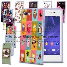 New arrived Flowers&tiger printed TPU case cover For sony Xperia E3 bag for sony Xperia E3(China)