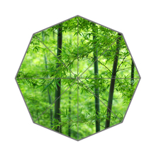Nature Green Bamboo Custom Portable Folding Travel Design Rain and Sun Beach Umbrellas Hat Unique Parasol Umbrella