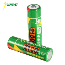 KINBAT 2pcs 2100mAh 1.2V AA Ni-MH Rechargeable Battery AA Pre-Charged NIMH Batteries Pack For Toys Microphone Remote Controls(China)