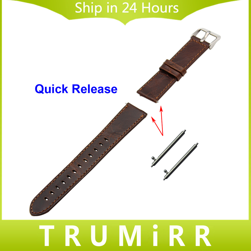20mm Genuine Leather Watchband Quick Release Strap for Moto 360 2 42mm Men with Pin Buckle  Band Wrist Bracelet Brown<br><br>Aliexpress