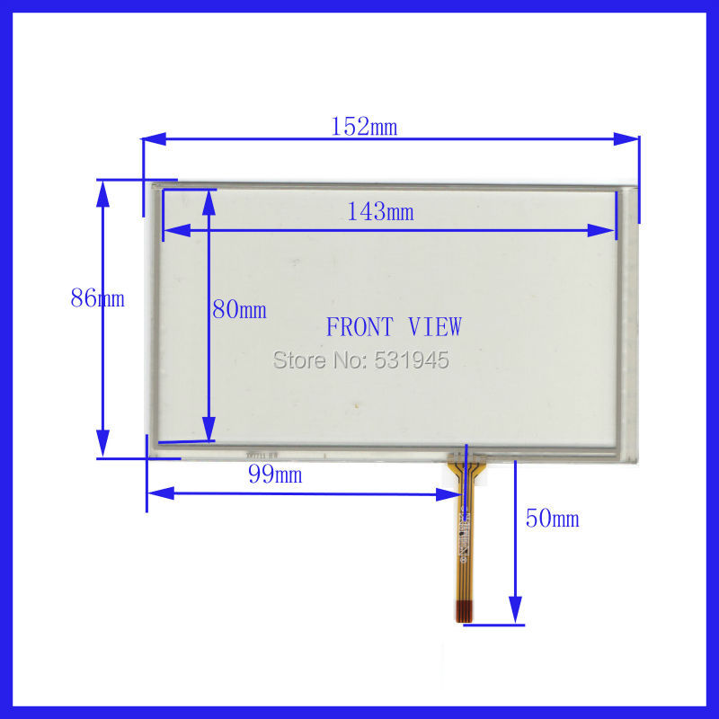 POST 6.2 inch 4-wire resistive   152*86 compatible Navigator XWT711 TOUCH SCREEN   Panel 152mm*86mm GLASS on  LCD HSD062 display<br><br>Aliexpress