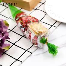 100pcs Colorful Candy Bag Sweet Birthday Party Gift Bag Cone Cellophane Cookies Bags natal For Wedding Party(China)
