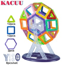 KACUU 34pcs Magnetic Blocks baby toy Magnetic Designer kids DIY Ferris wheel model Building Blocks Educational toys for children