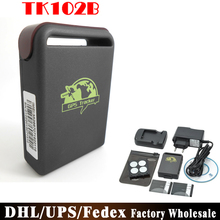 DHL/Fedex/UPS 10pcs/lot Factory Price Mini GSM GPRS GPS Tracker TK102B Tk102 Car Vehicle Tracking Locator