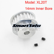 Silver Tone XL Type 20 Teeth 14mm Aluminum Timing Belt Pulley Bore for Automotive Textile Printing