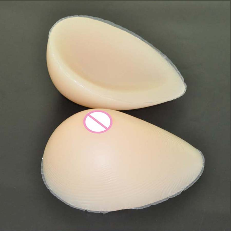 1pair 700g B cup Beige Drop Silicone Breast Forms Aritificial Boobs tits Swim breast enlargement pads For woman insert pads<br>