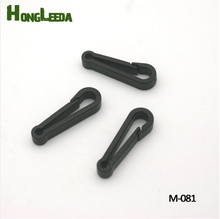 Wholesale Free shipping 120pcs  black KAM plastic snap clip hooks Mini carabiner backpack paracord strap hooks M-081