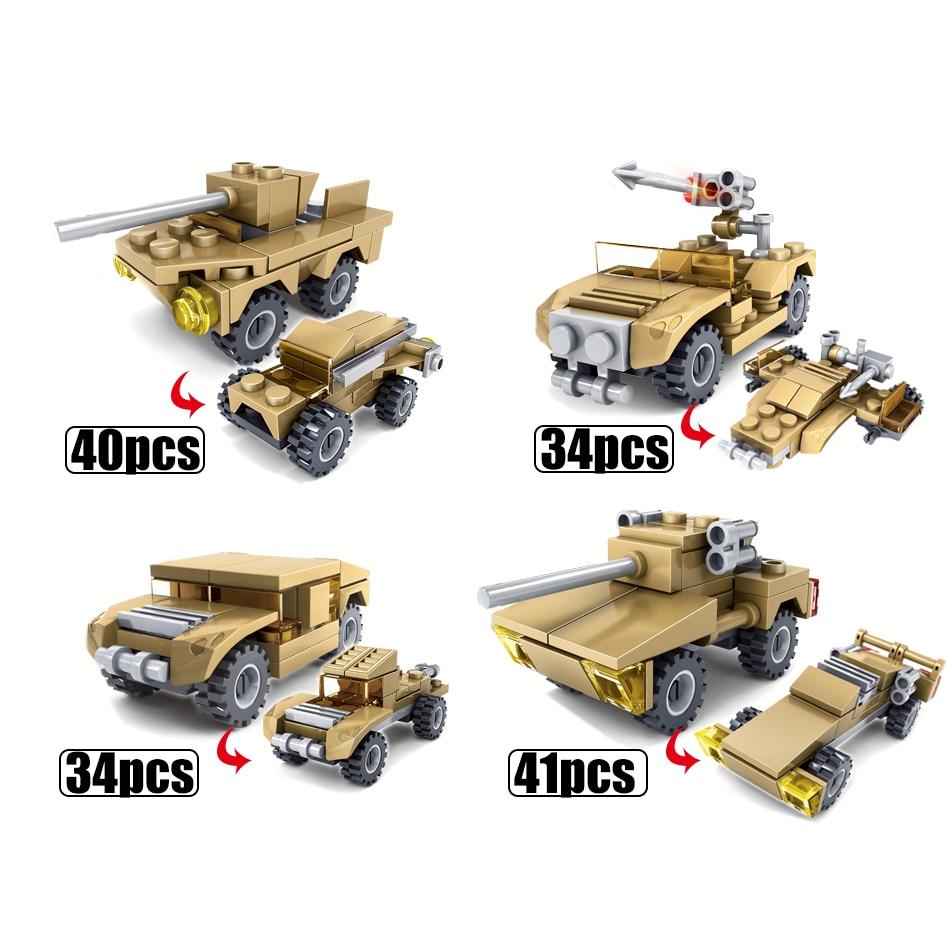 KAZI-544PCS-16-in-1-Army-Tank-Building-Blocks-Bricks-Military-Compatible-Legoe-Weapons-Brinquedo-Menina (5)