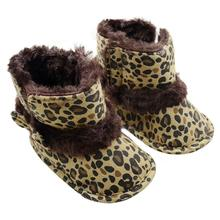 Baby Snow Boots first walkers Anti-slip design Soft Crib Shoes Leopard Toddler Boots sapatos infantil menina Krystal