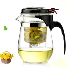 Upgrade version 500ml Heat Resistant Glass Tea Pot,elegant cup Tea Set Puer kettle Coffee Teapot Convenient Office Teaset 1pcs