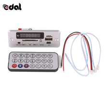 Wireless MP3 Player Decoder Board Audio Module USB TF Radio For Car Red Digital LED With Remote Controller(China)