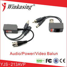 20Pairs Long distance CCTV UTP video balun with power and audio input(China)