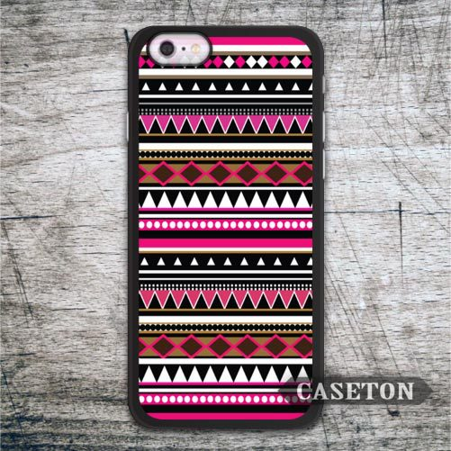 Classic Tribal Pink Aztec Case For iPhone 7 6 6s Plus 5 5s SE 5c and For iPod 5 High Quality Wholesale and Retail Drop Shipping