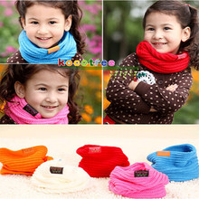 Children's Muffler Baby Warm Scarf Boys Girls Knitted O Ring Style Designer Knitting Kids Neck Autumn Winter Warmer Neckerchief(China)
