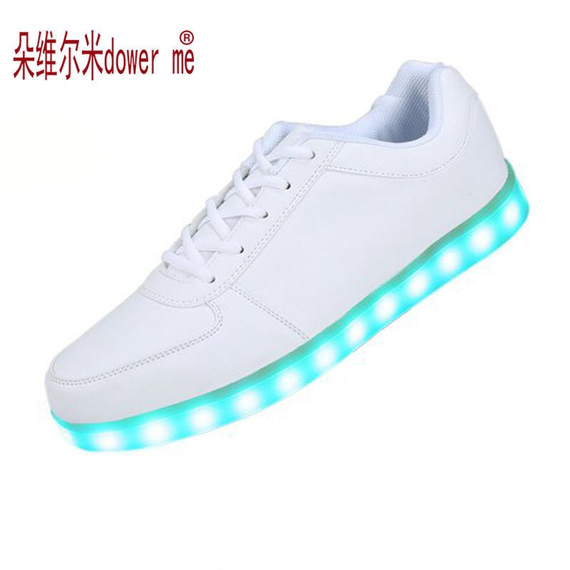 Lowest Price SAGURO 2017 New 7 Color Luminous Shoe Woman Fashion USB Rechargeable LED Lights Shoes Lovers Casual Flash Shoes<br><br>Aliexpress