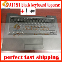 95% new A1181 black keyboard for macbook 13'' A1181 topcase with touchpad trackpad top cover 2006 2007 2008 2009year(China)