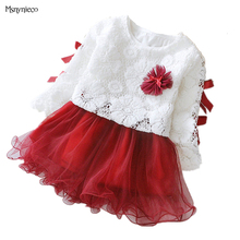 Baby Girl Dress 2017 New Princess Infant Party Dresses for Girls Autumn Kids tutu Dress Baby Clothing Toddler Girl Clothes(China)