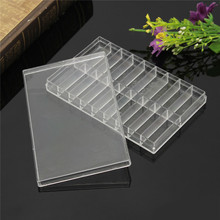 Excellent Quality 18 Grid Transparent Plastic Storage Case Box For Watch Pin Spring Bar Screw Bead Watch Tool Box
