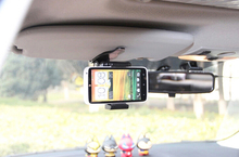 Clip Rotary Car Sun Visor Mobile Phone Holders Stands Mounts For Vodafone Smart ultra 6 speed 6 first 7 prime 7 Platinum 7