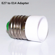 2Pcs/Lot E27 to E14 Adapter Conversion Socket High Quality Fireproof ABS Material Lamp Base Bulb Holder Converter Free Shipping(China)