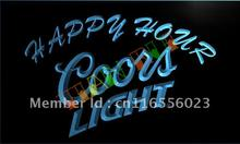 LA603- Coors Light Happy Hour Beer Bar LED Neon Light Sign