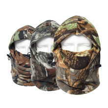 QLIOING New Winter Thermal Camo Camouflage Fleece Warm Neck Mask Balaclava Motorcycle Wind Cap Hats Snowboard Full Mask