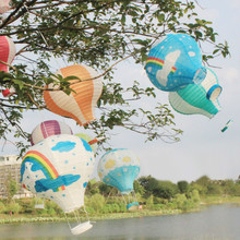 10pcs/lot 16 inch(40cm*53cm) Multicolor Hot Air Balloon Paper Lantern Wishing Lanterns for Birthday Wedding Party Decor Gift