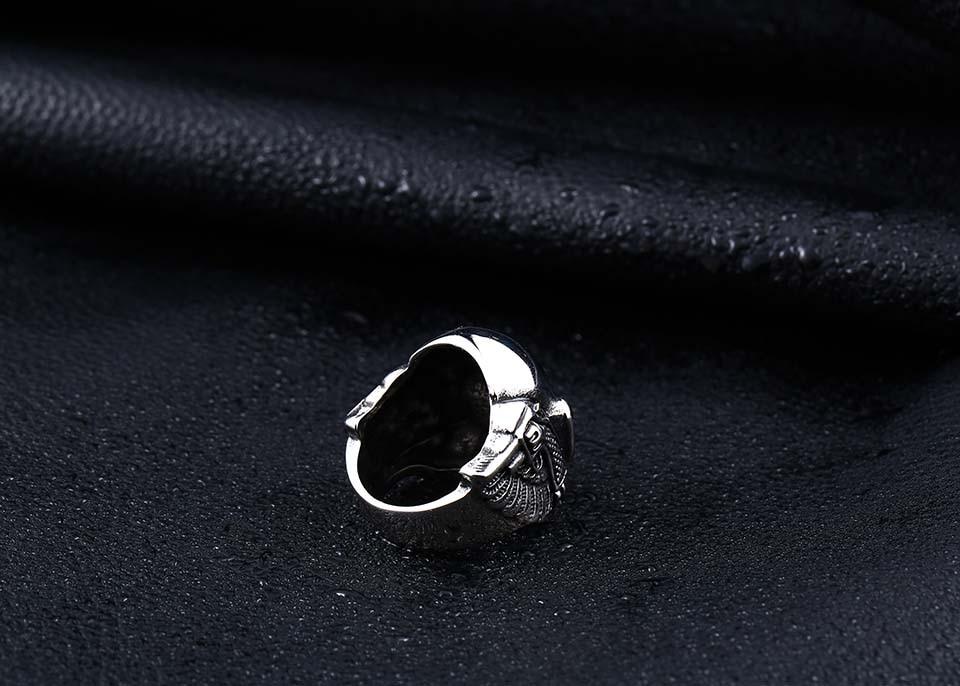 แหวนโคตรเท่ห์ Code 031 แหวนSkull wing สแตนเลส16