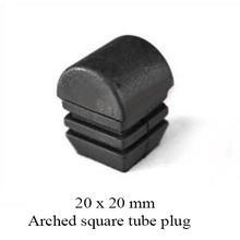 20x20 mm square tube plug plastic end cover for blanking tube cap. pad arched ball head surface round shape chair beach bed(China)