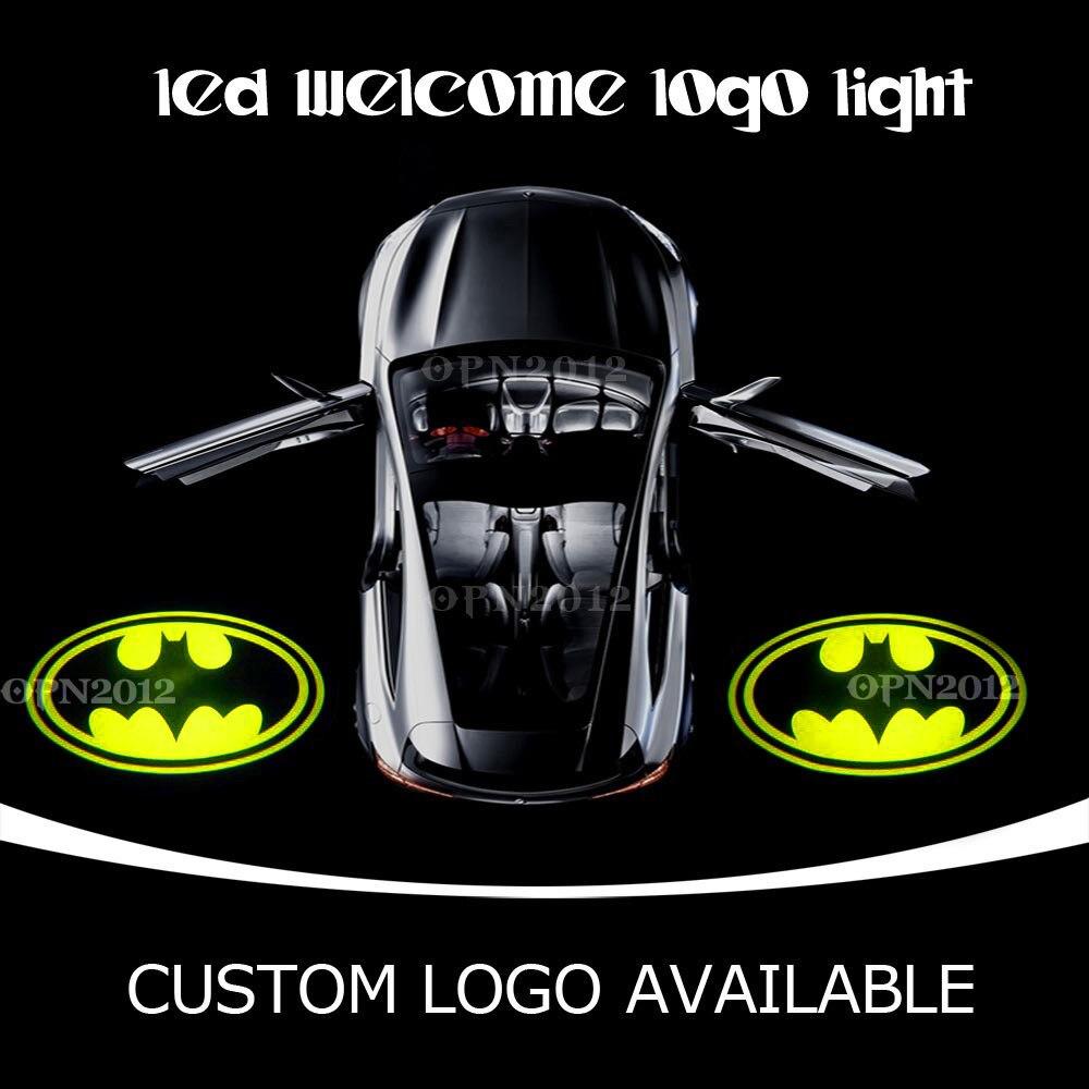 Dark Knight Batman Auto Open Door LED Emblem Welcome Laser Light Projection Spotlight Ghost Shadow Logo Puddle Light 2421<br><br>Aliexpress