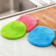 Kitchen Cleaner Washing Tool Multifunction Silicone Dish Bowl Cleaning Brush Scouring Pad Pot Pan Wash Brushes Random Mixed